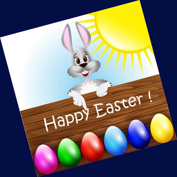 Osterhase wünscht Happy Easter!